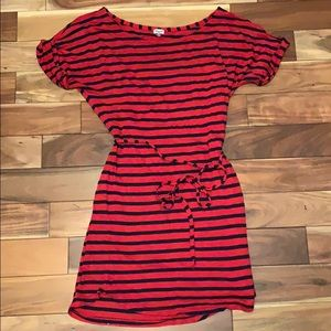 Splendid Red/Blue Stripe tee dress